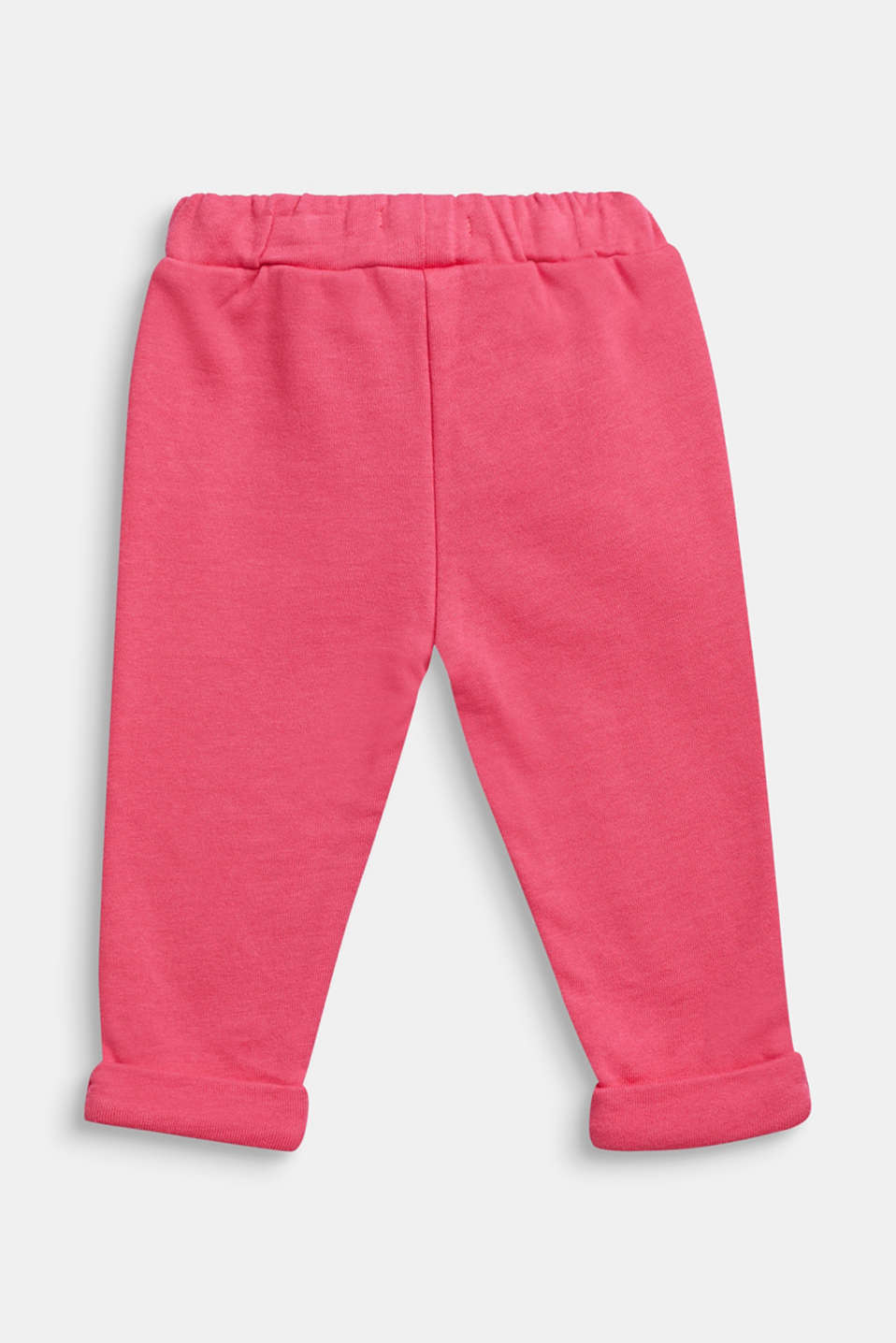 Sweatshirt trousers with glittering drawstring ties, 100% cotton, LCCANDY PINK, detail image number 1