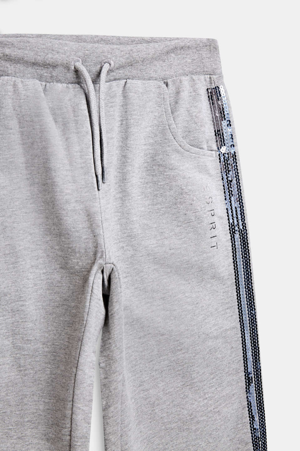 Tracksuit bottoms with sequin stripes, LCMID HEATHER GR, detail image number 2