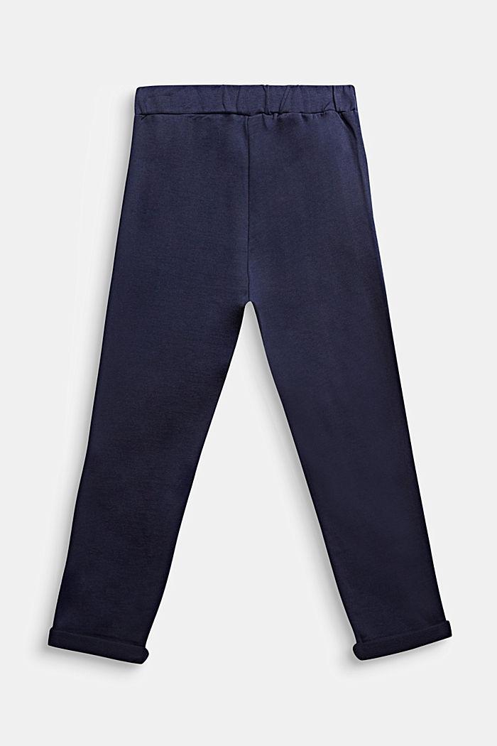 Sweatbroek met print, 100% katoen, MIDNIGHT BLUE, detail image number 1