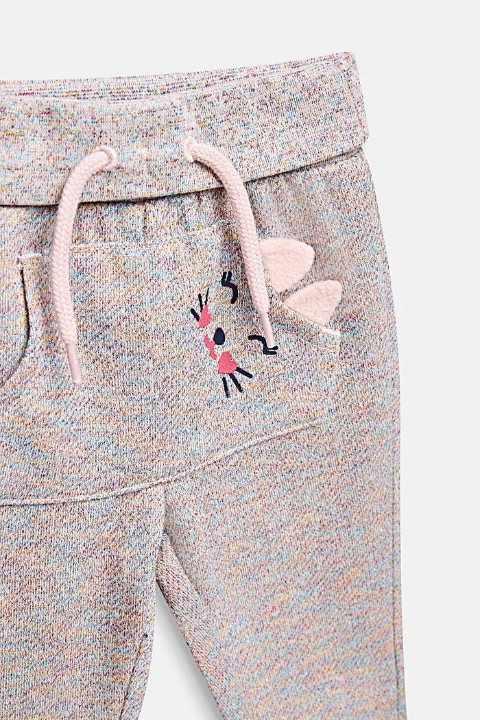 Sweatbukser i kulørt glitterlook, LCMULTICOLOR, detail image number 2