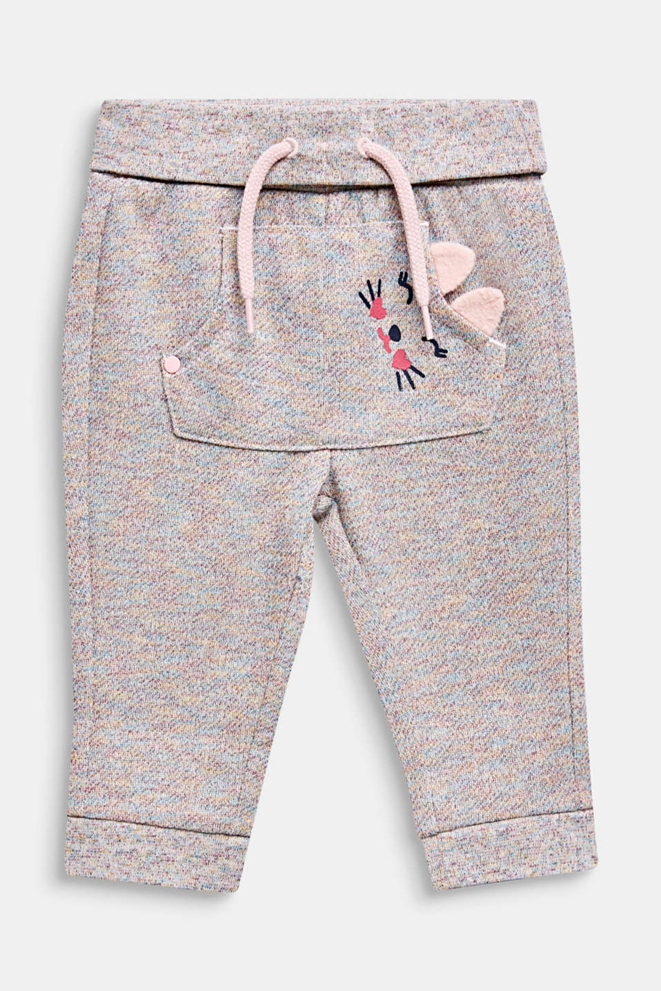 Tracksuit bottoms with a colourful glitter look, LCMULTICOLOR, detail image number 0