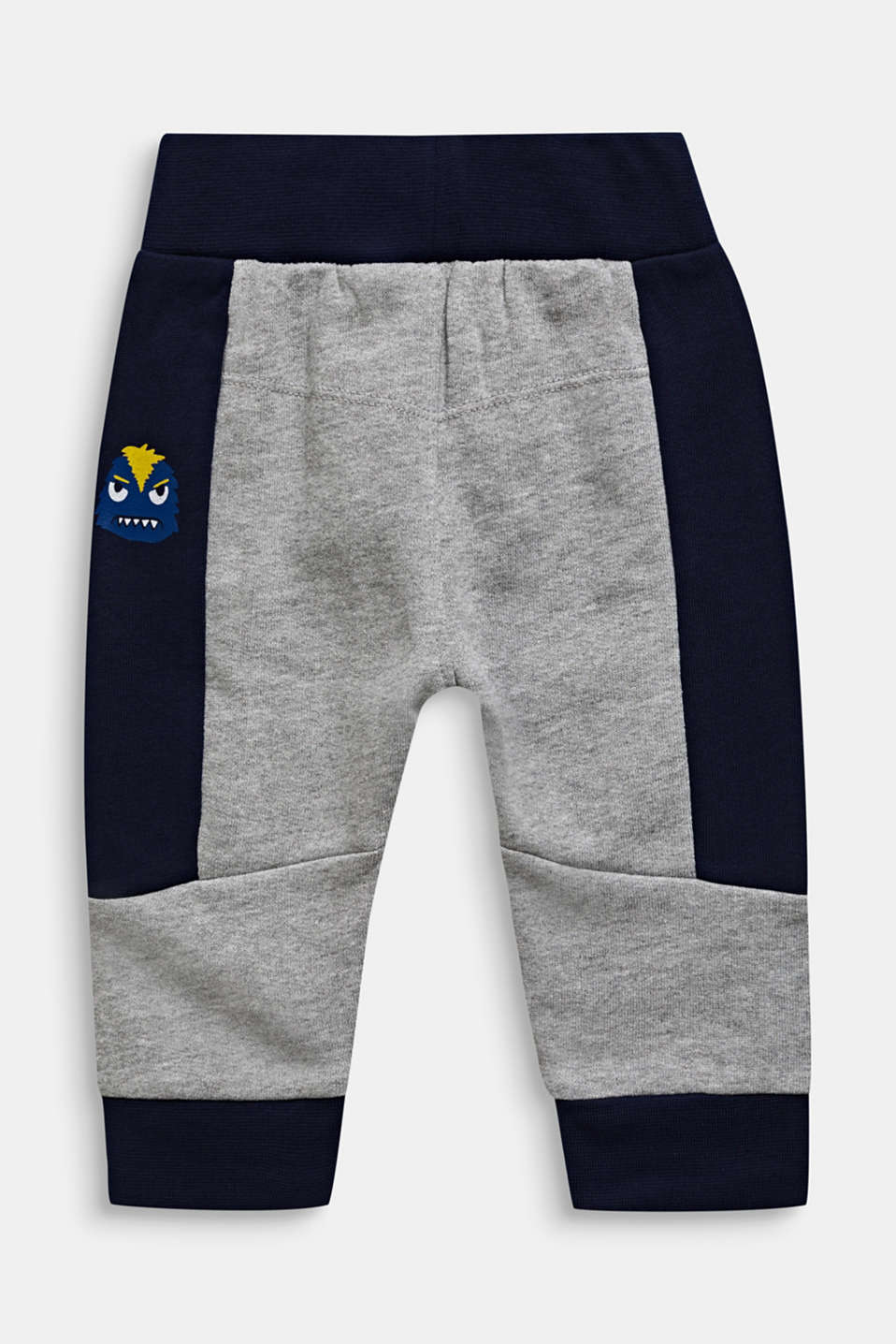 Colour block sweatshirt trousers, LCMID HEATHER GR, detail image number 1
