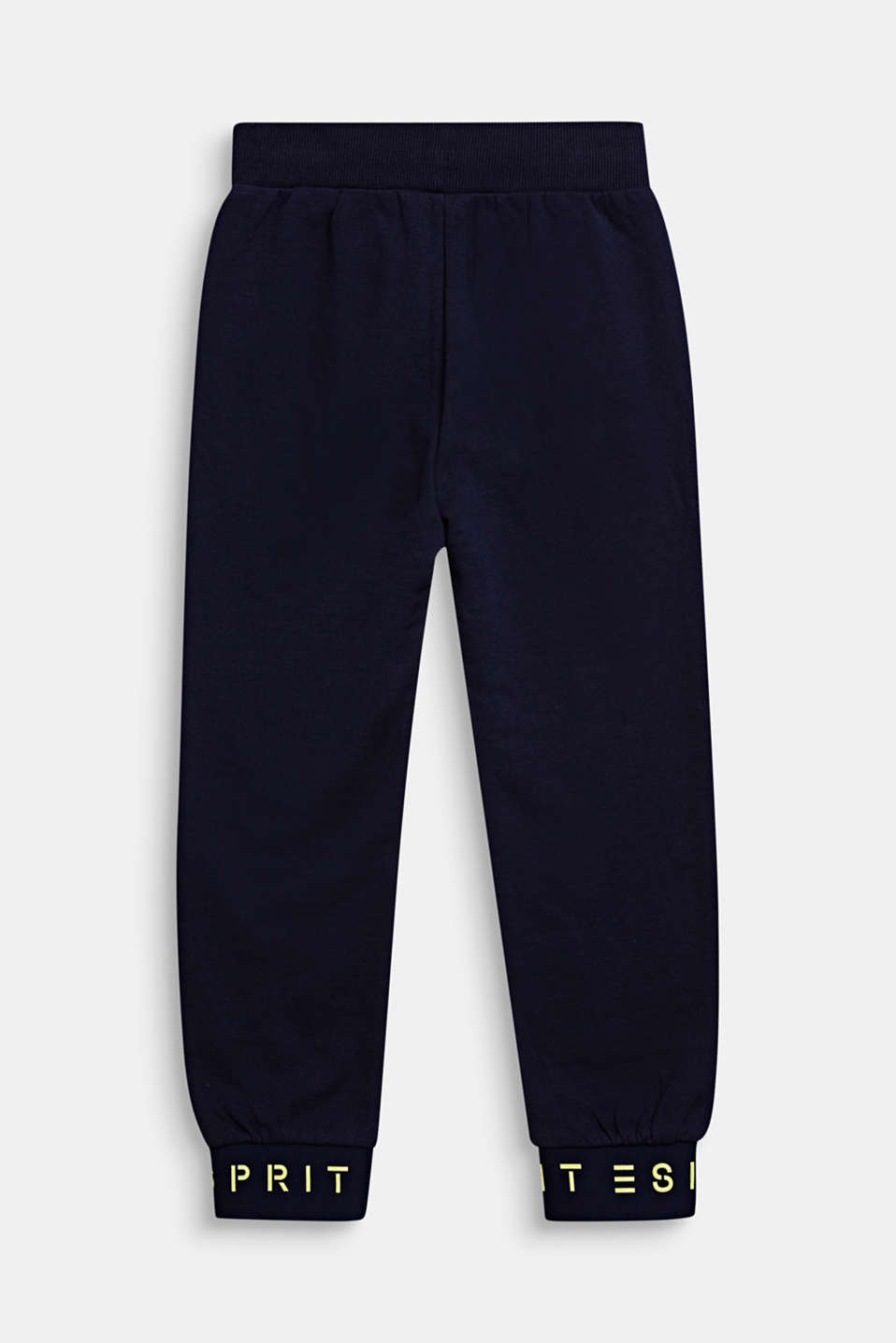 Tracksuit bottoms with logo hems, 100% cotton, MIDNIGHT BLUE, detail image number 1