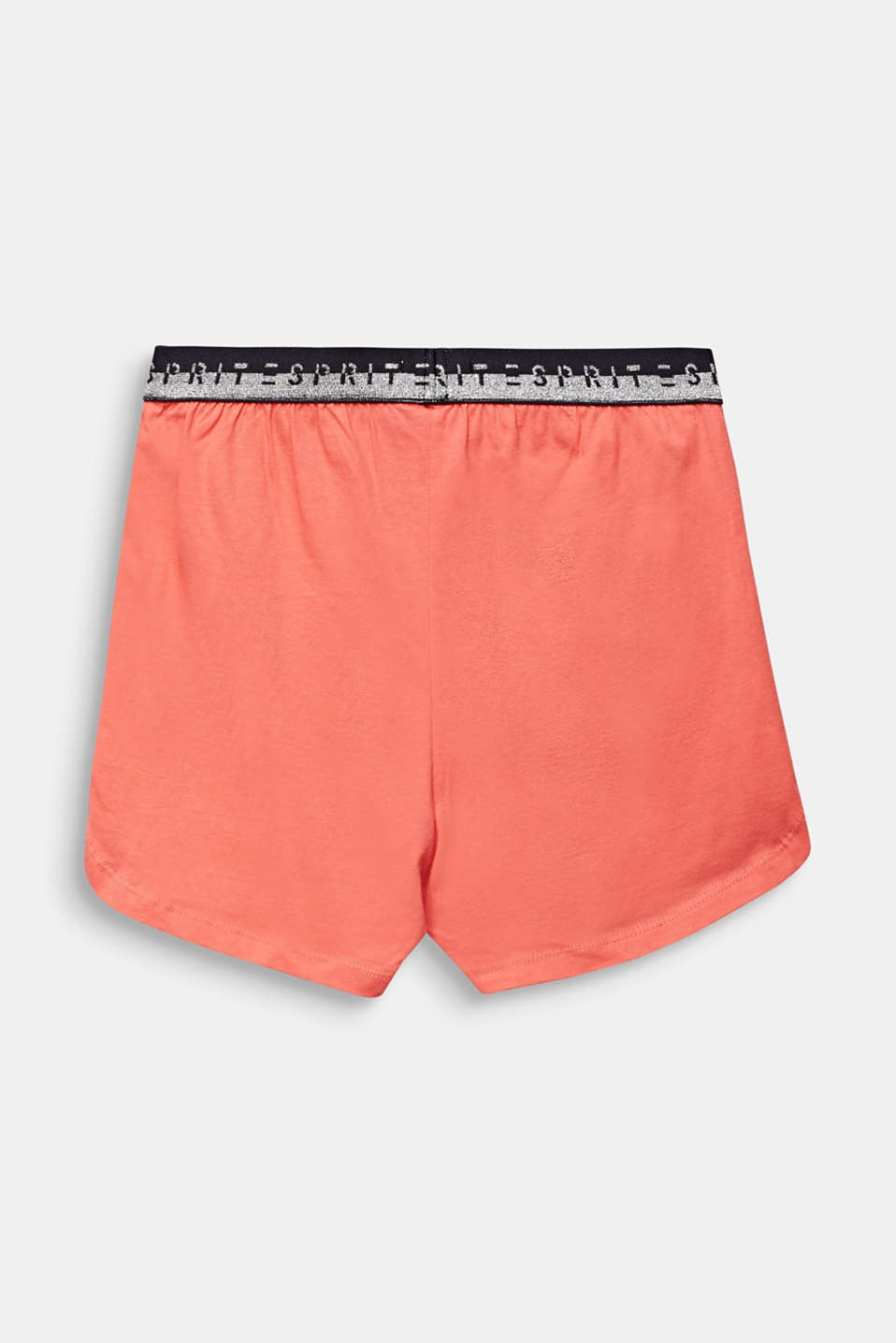 Jersey shorts with a logo waistband, 100% cotton, LCCORAL, detail image number 1