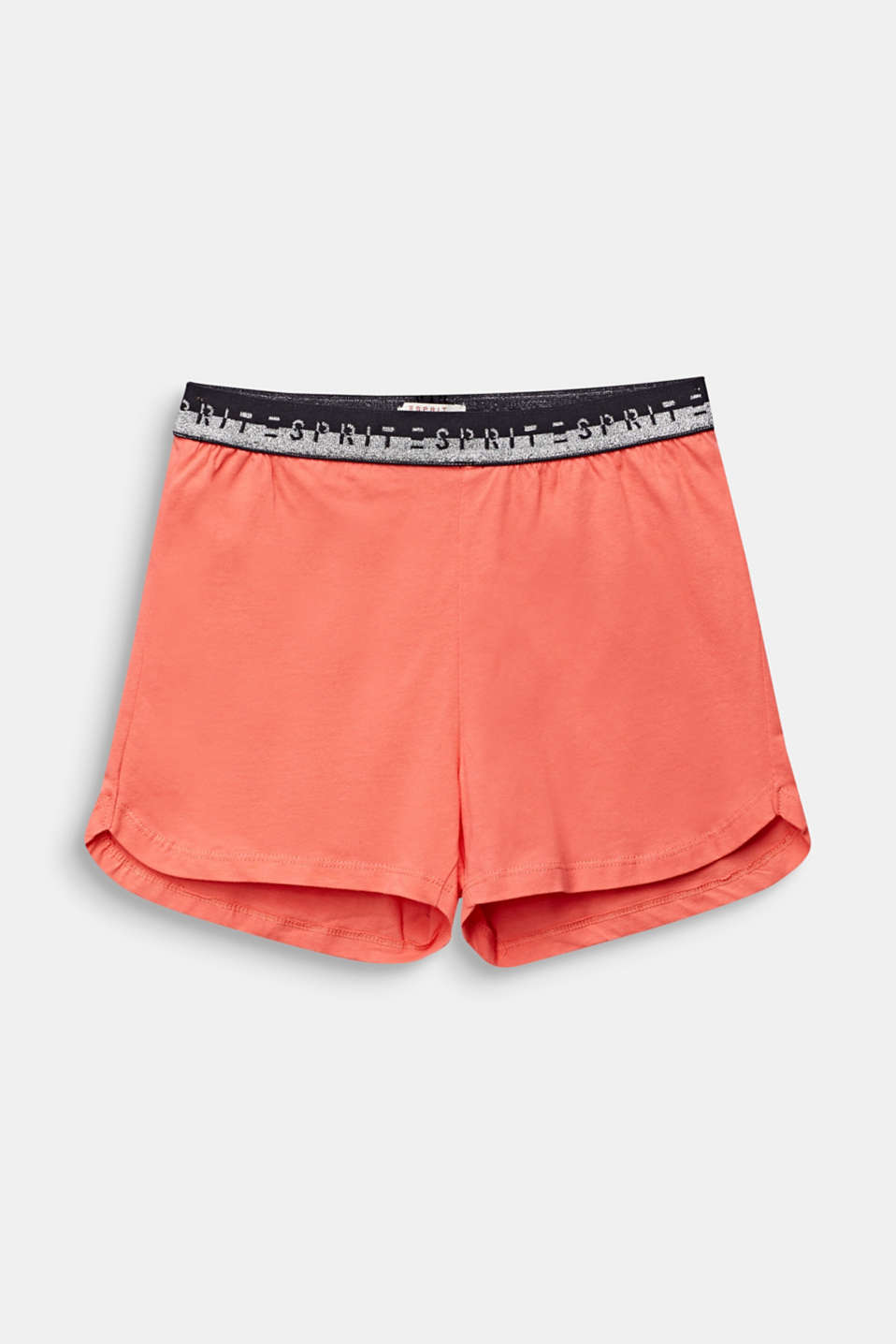 Jersey shorts with a logo waistband, 100% cotton, LCCORAL, detail image number 0