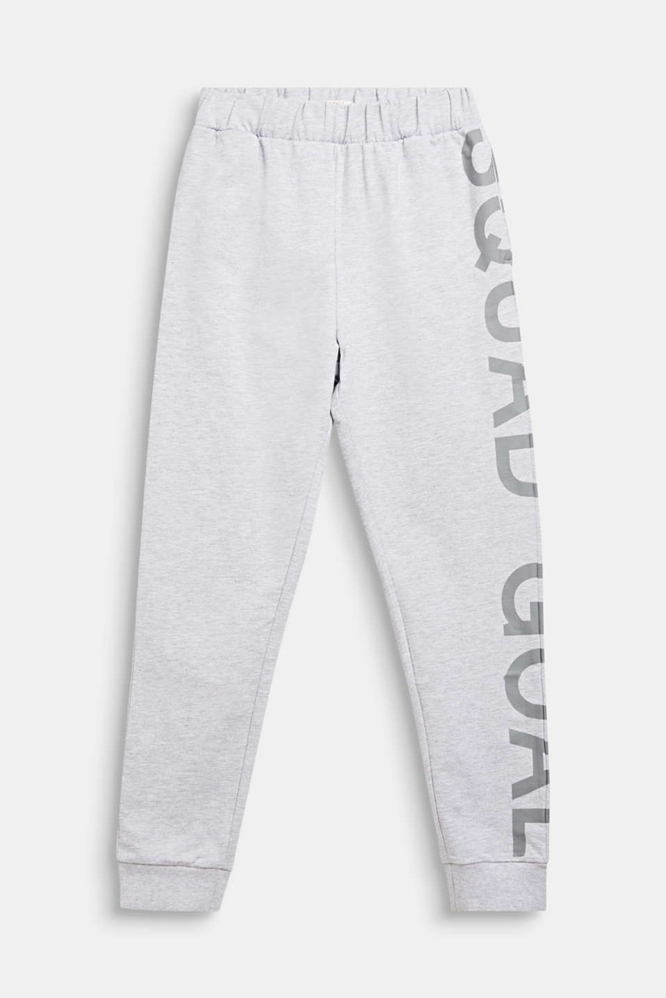 Tracksuit bottoms with a print, LCHEATHER SILVER, detail image number 0