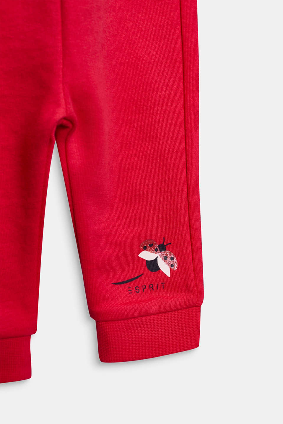 Tracksuit bottoms with a print, 100% cotton, LCRASPBERRY, detail image number 2