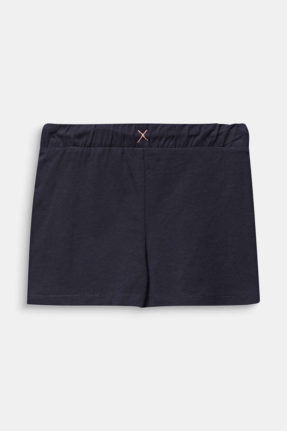 Jersey shorts made of stretch cotton, ANTHRACITE, detail image number 1
