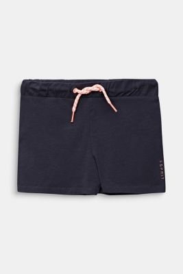 Jersey shorts made of stretch cotton, ANTHRACITE, detail