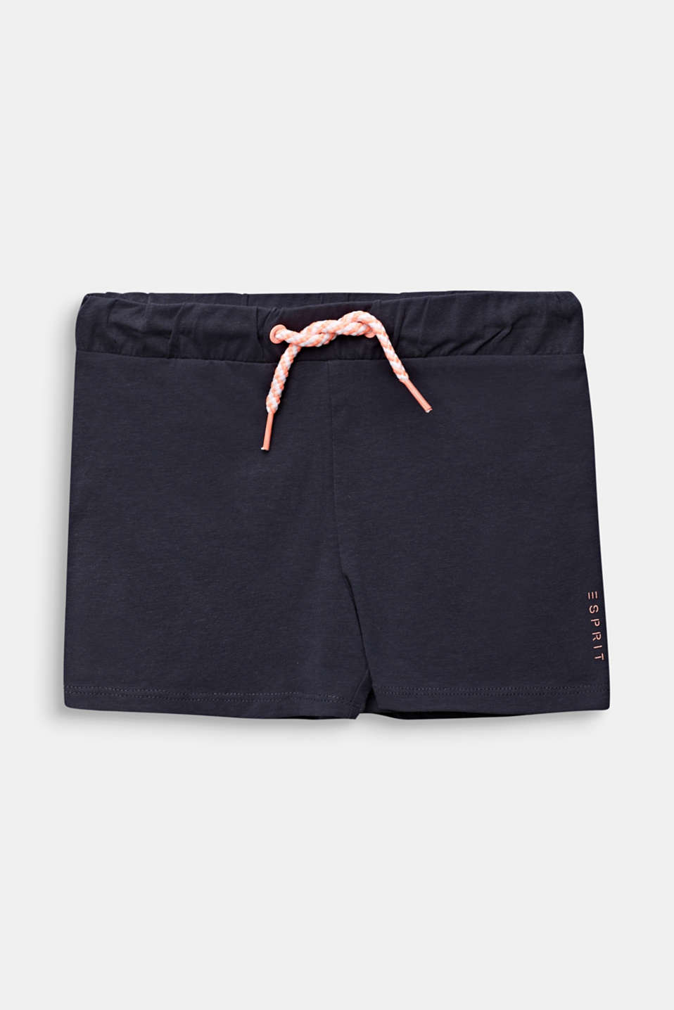 Jersey shorts made of stretch cotton, ANTHRACITE, detail image number 0