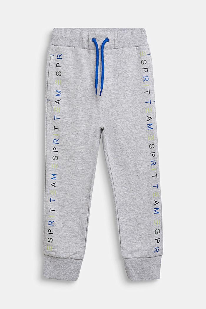 Tracksuit bottoms with a logo print, 100% cotton