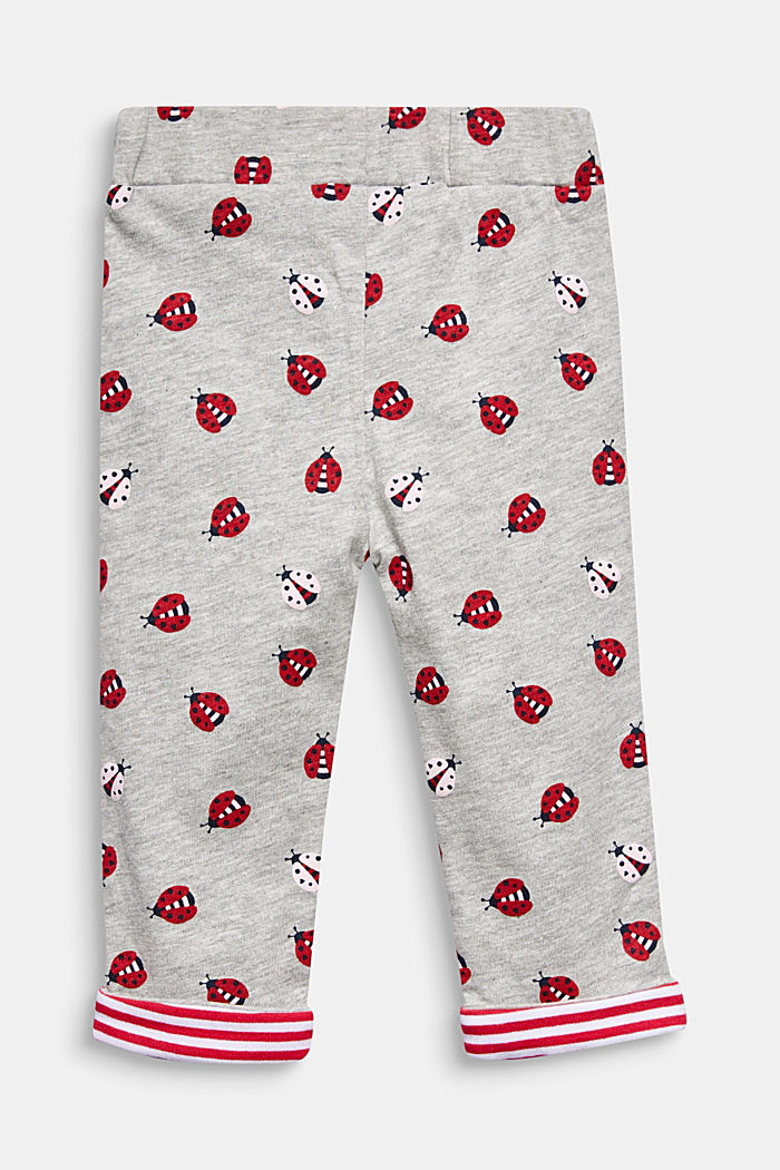 Leggings with a ladybird print, HEATHER SILVER, detail image number 1