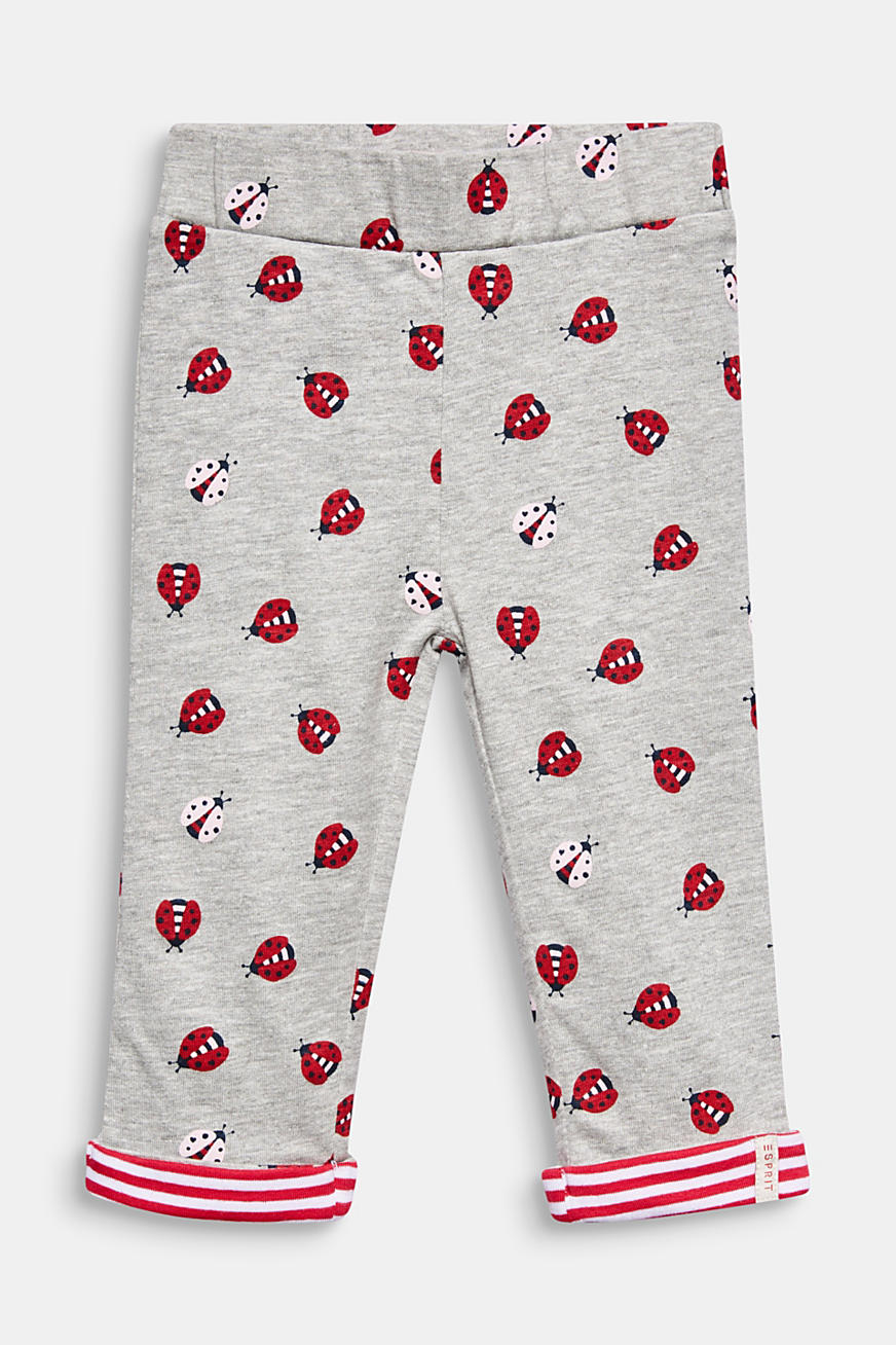 Leggings with a ladybird print