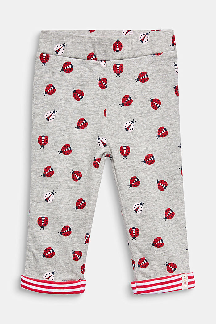 Leggings with a ladybird print, HEATHER SILVER, detail image number 0