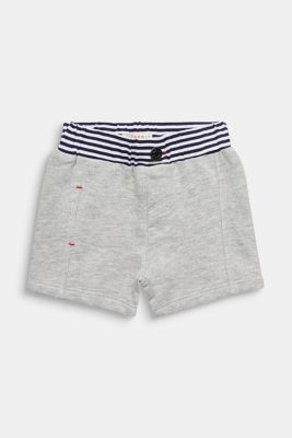 Sweat shorts with striped waistband, LCHEATHER SILVER, detail