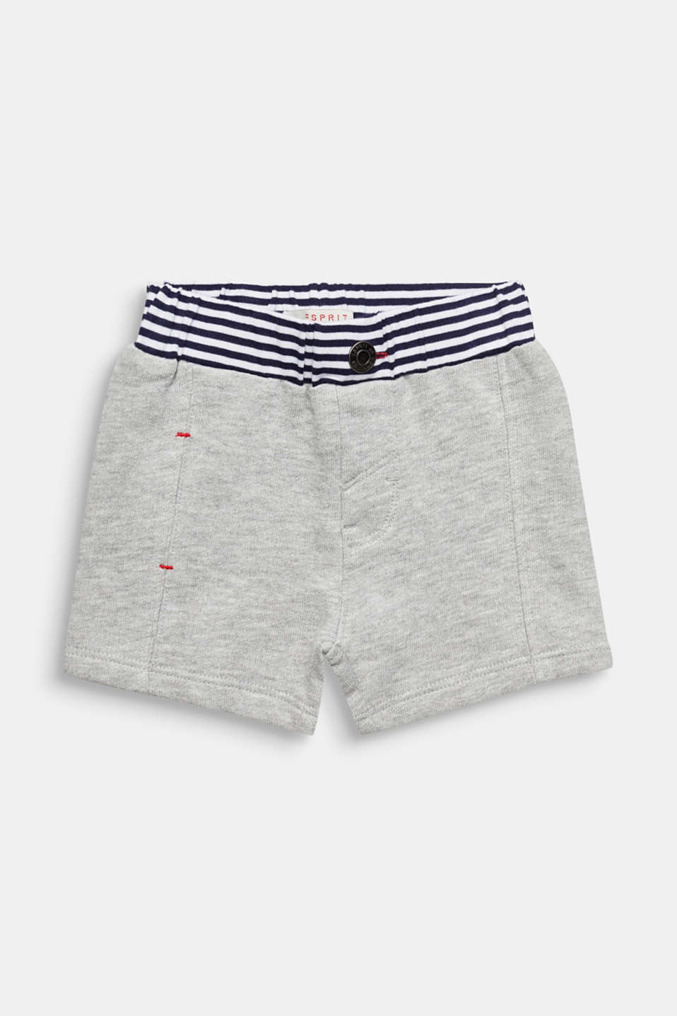 Esprit - Sweat shorts with striped waistband