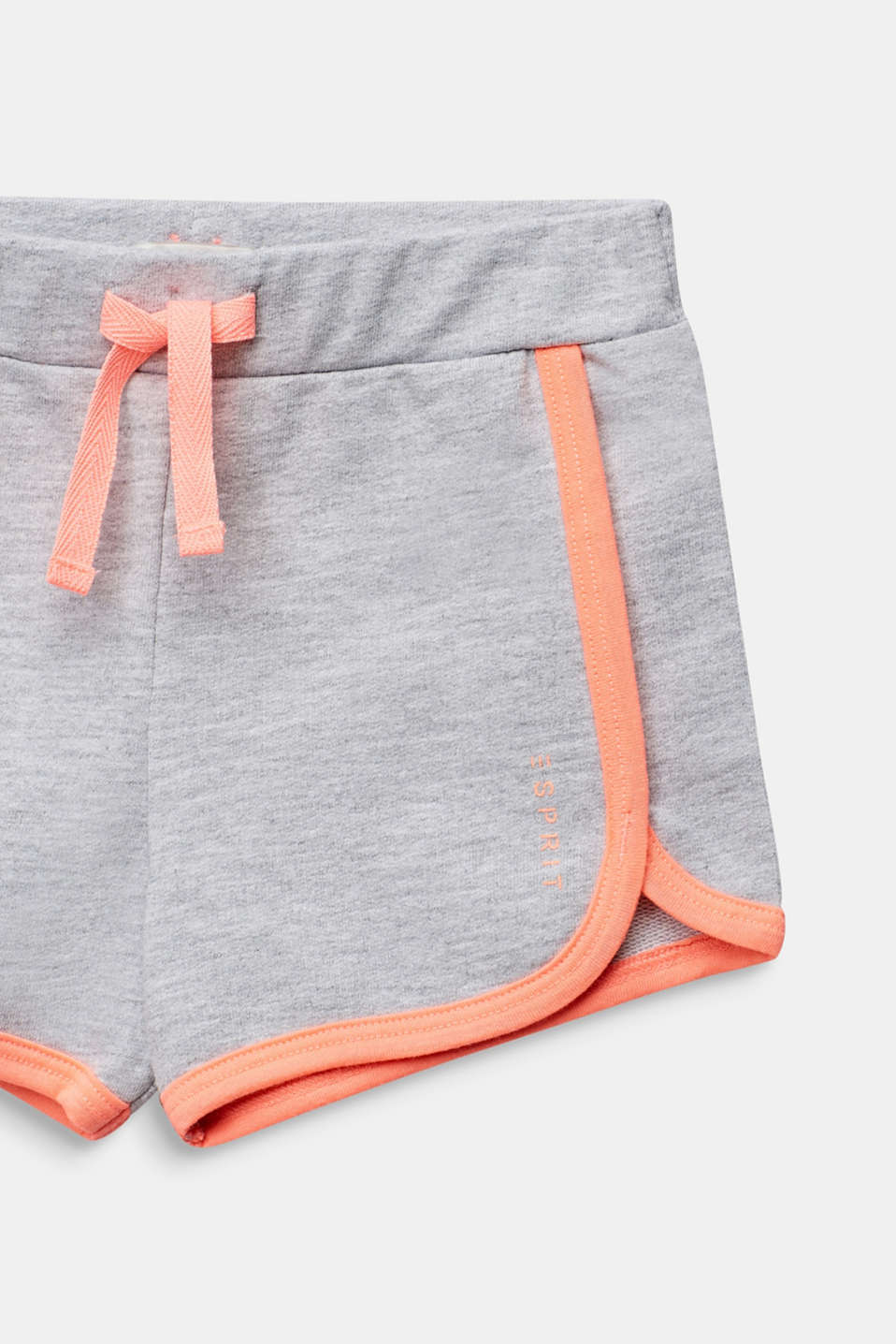 Sweat shorts with NEON, 100% cotton, HEATHER SILVER, detail image number 2