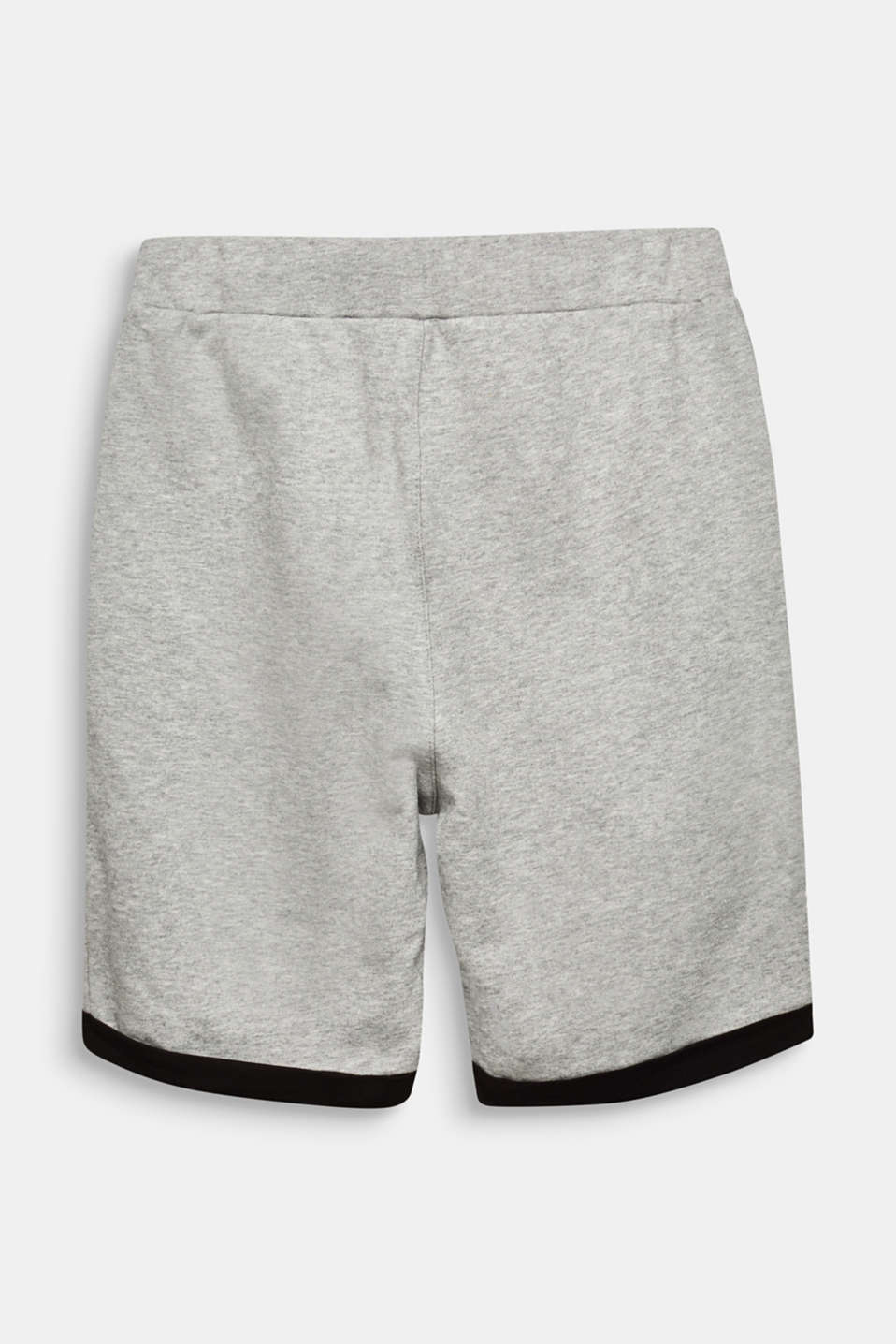Sweat shorts, 100% cotton, LCMID HEATHER GR, detail image number 1
