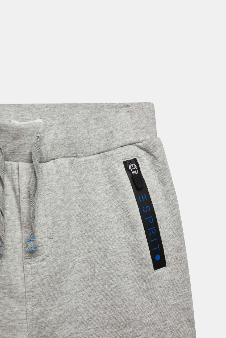 Sweat shorts, 100% cotton, LCMID HEATHER GR, detail image number 2