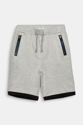 Sweat shorts, 100% cotton, LCMID HEATHER GR, detail