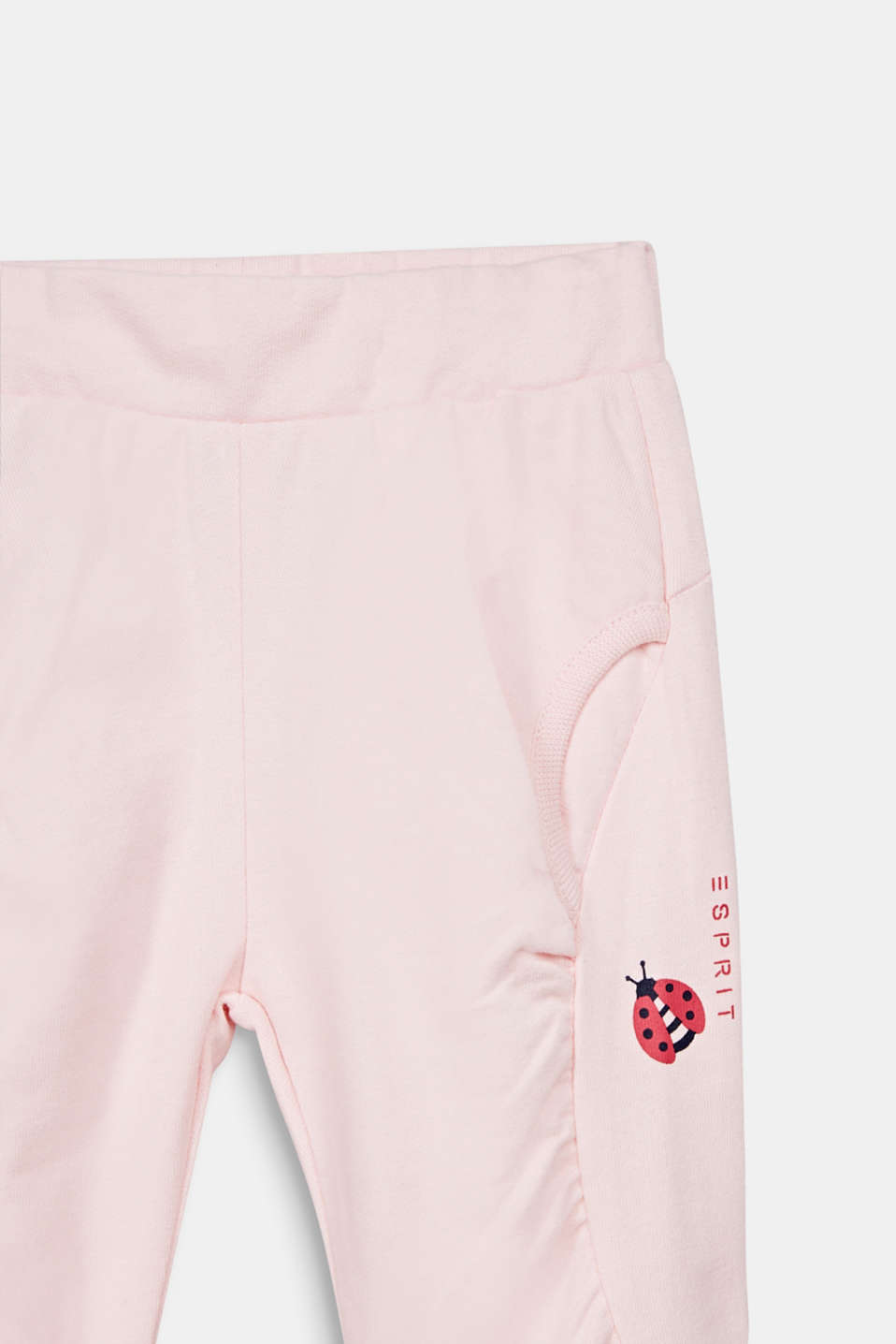 Tracksuit bottoms with a ladybug print, 100% cotton, LCLIGHT PINK, detail image number 2