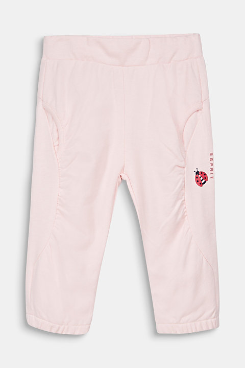 Tracksuit bottoms with a ladybug print, 100% cotton