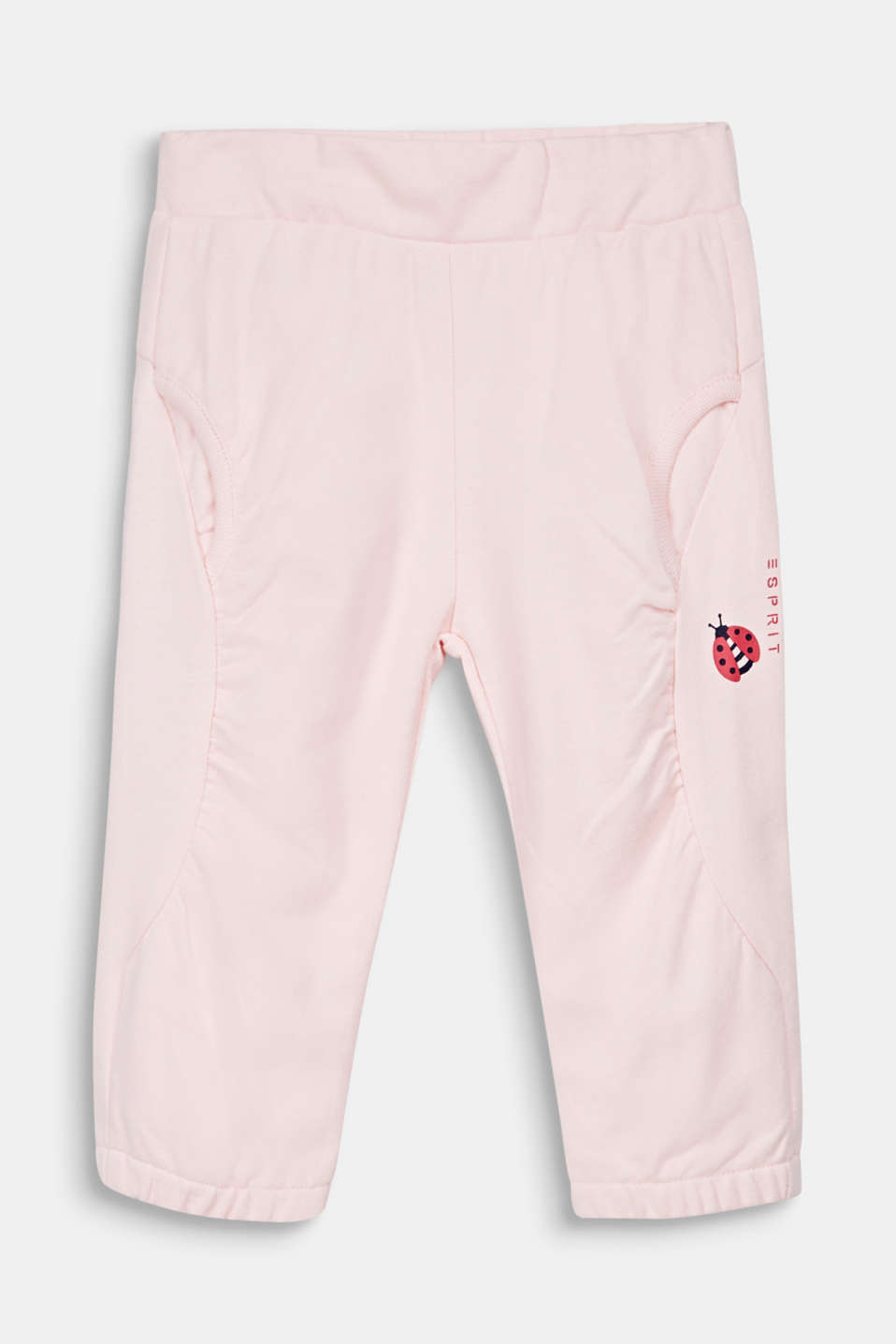 Tracksuit bottoms with a ladybug print, 100% cotton, LCLIGHT PINK, detail image number 0