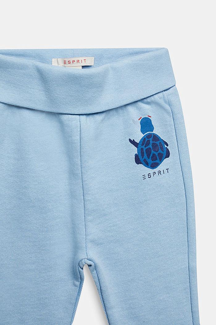 Sweatbroek met print, 100% katoen, LIGHT BLUE, detail image number 2