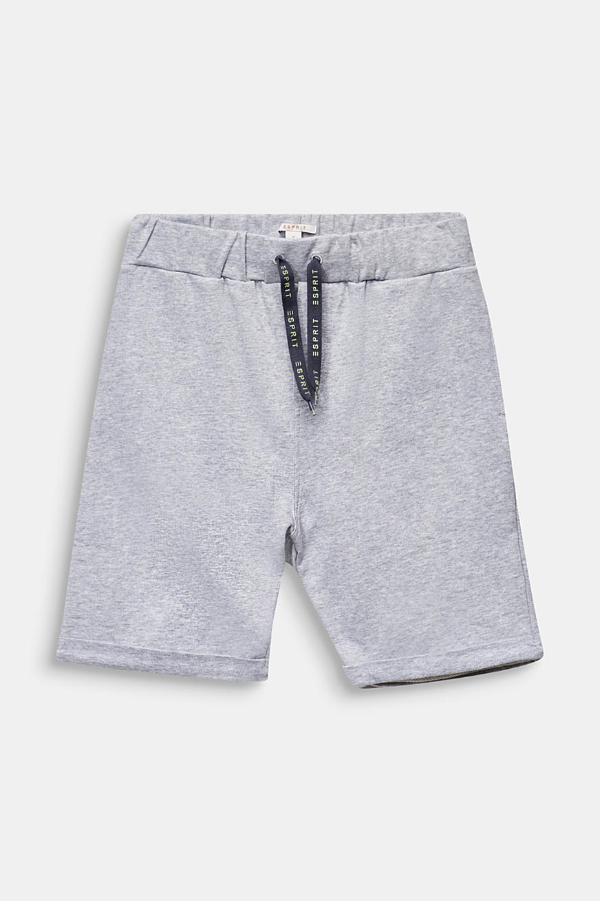 Sweatshirt shorts in 100% cotton