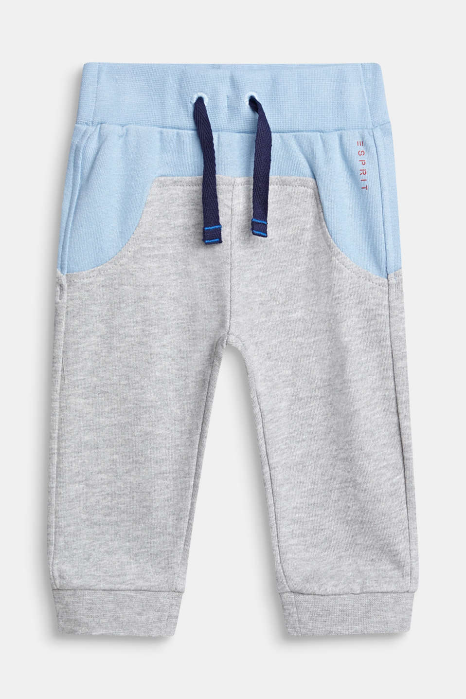 Colour block style tracksuit bottoms, LCHEATHER SILVER, detail image number 0