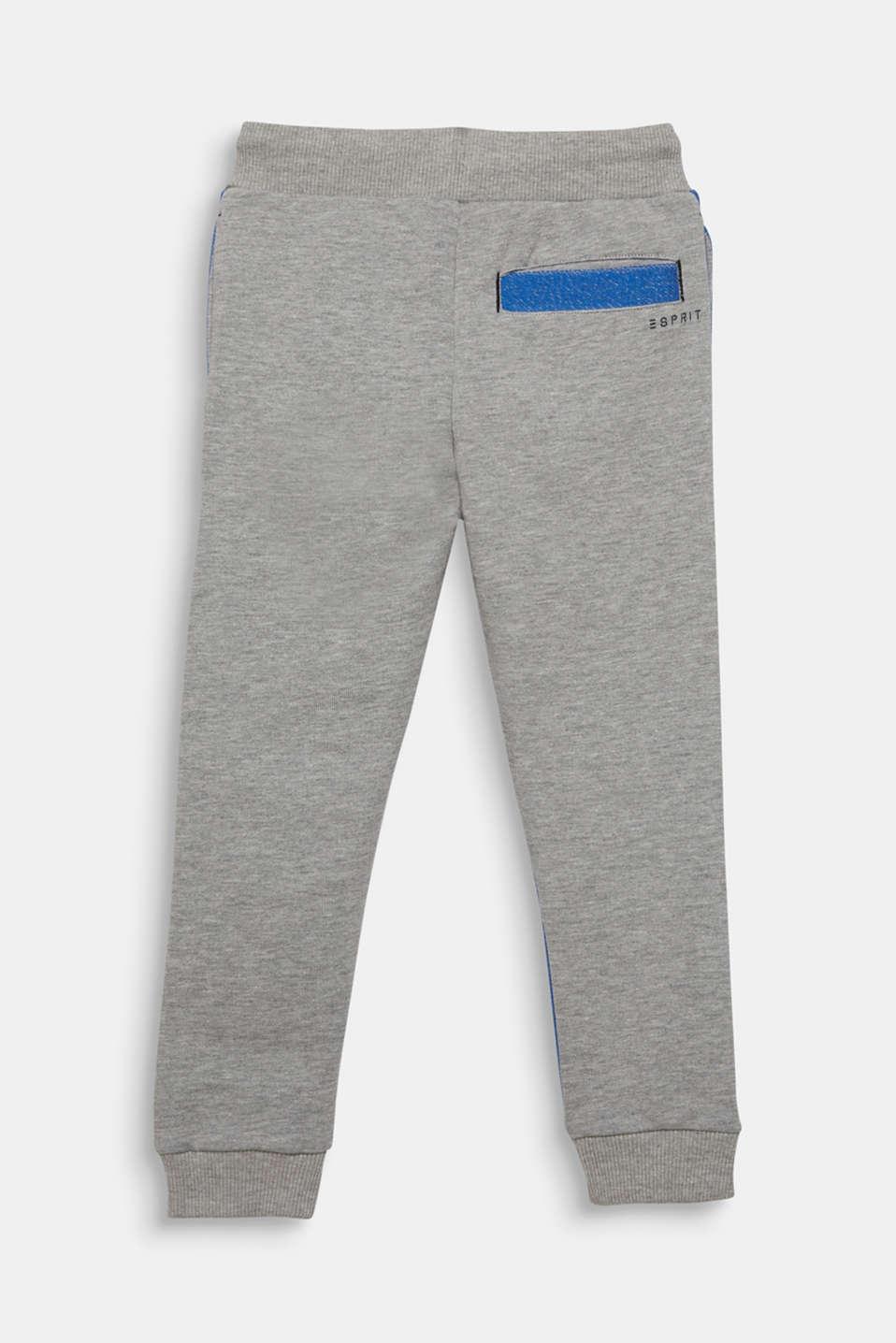 Colour block sweatshirt tracksuit bottoms, MID HEATHER GR, detail image number 1
