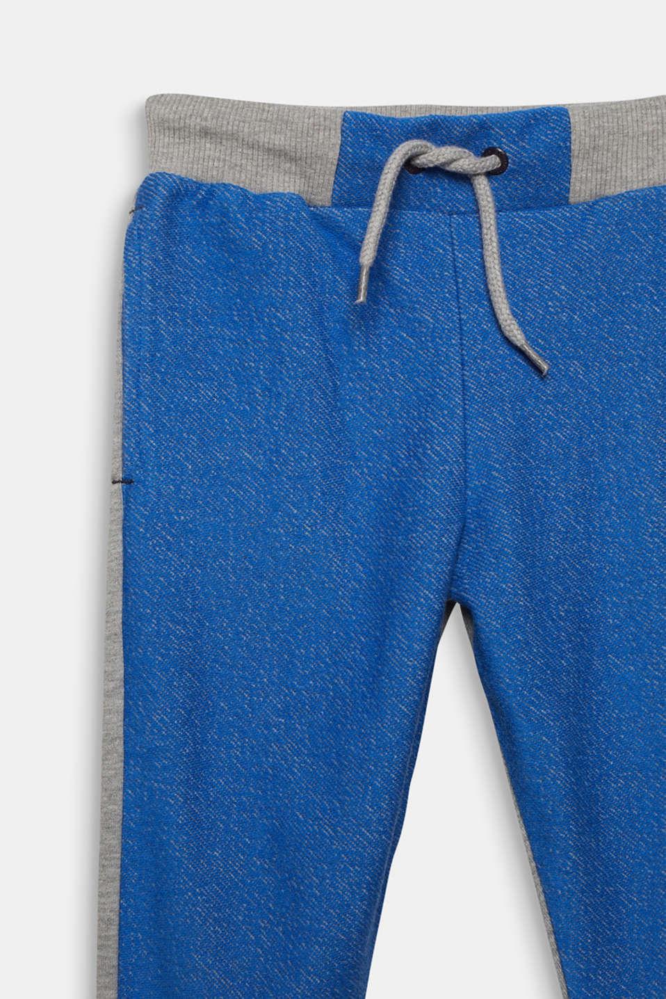 Colour block sweatshirt tracksuit bottoms, MID HEATHER GR, detail image number 2