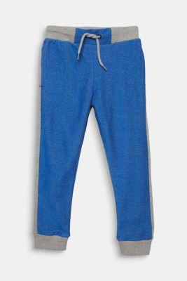 Colour block sweatshirt tracksuit bottoms, MID HEATHER GR, detail