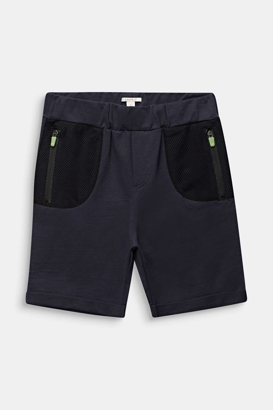 Esprit - Sweatshirt shorts with mesh inserts