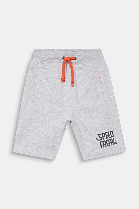 Sweatshirt shorts with a print, 100% cotton