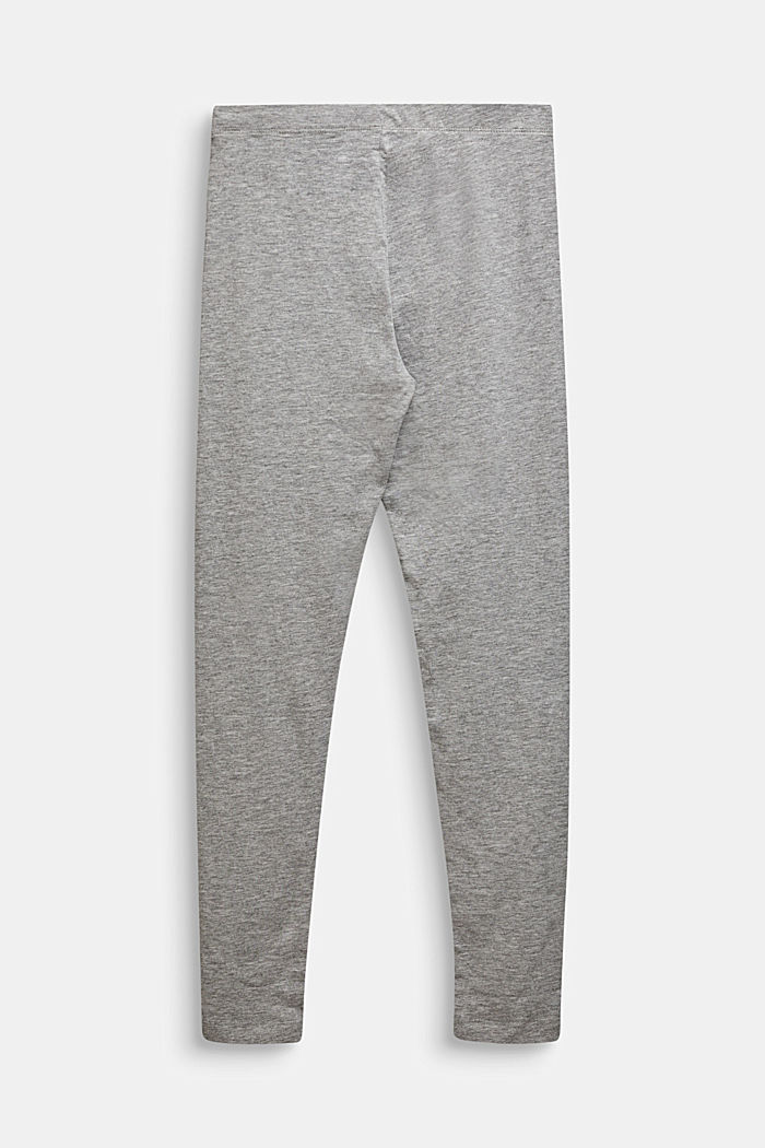 Opaque basic leggings, LCMID HEATHER GR, detail image number 1