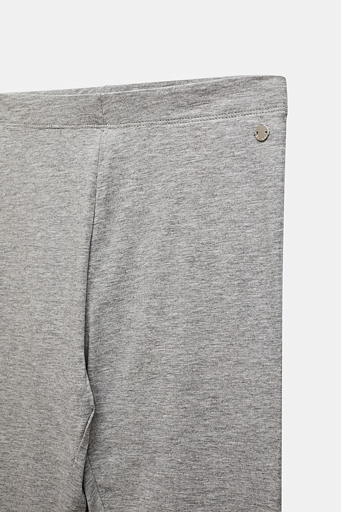 Opaque basic leggings, LCMID HEATHER GR, detail image number 2