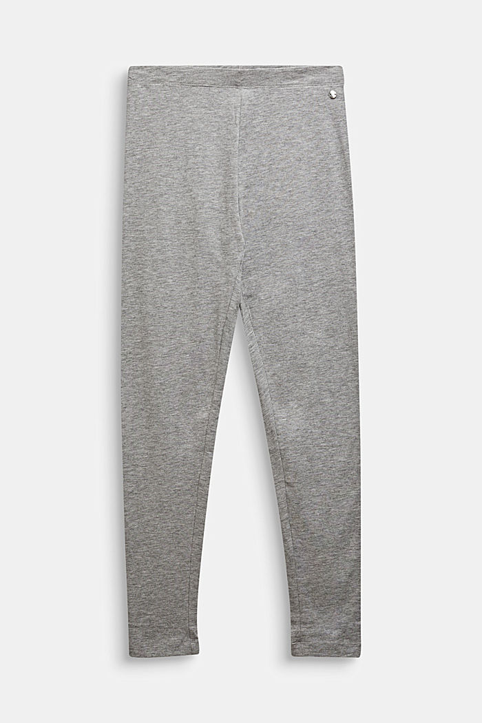 Opaque basic leggings, LCMID HEATHER GR, detail image number 0