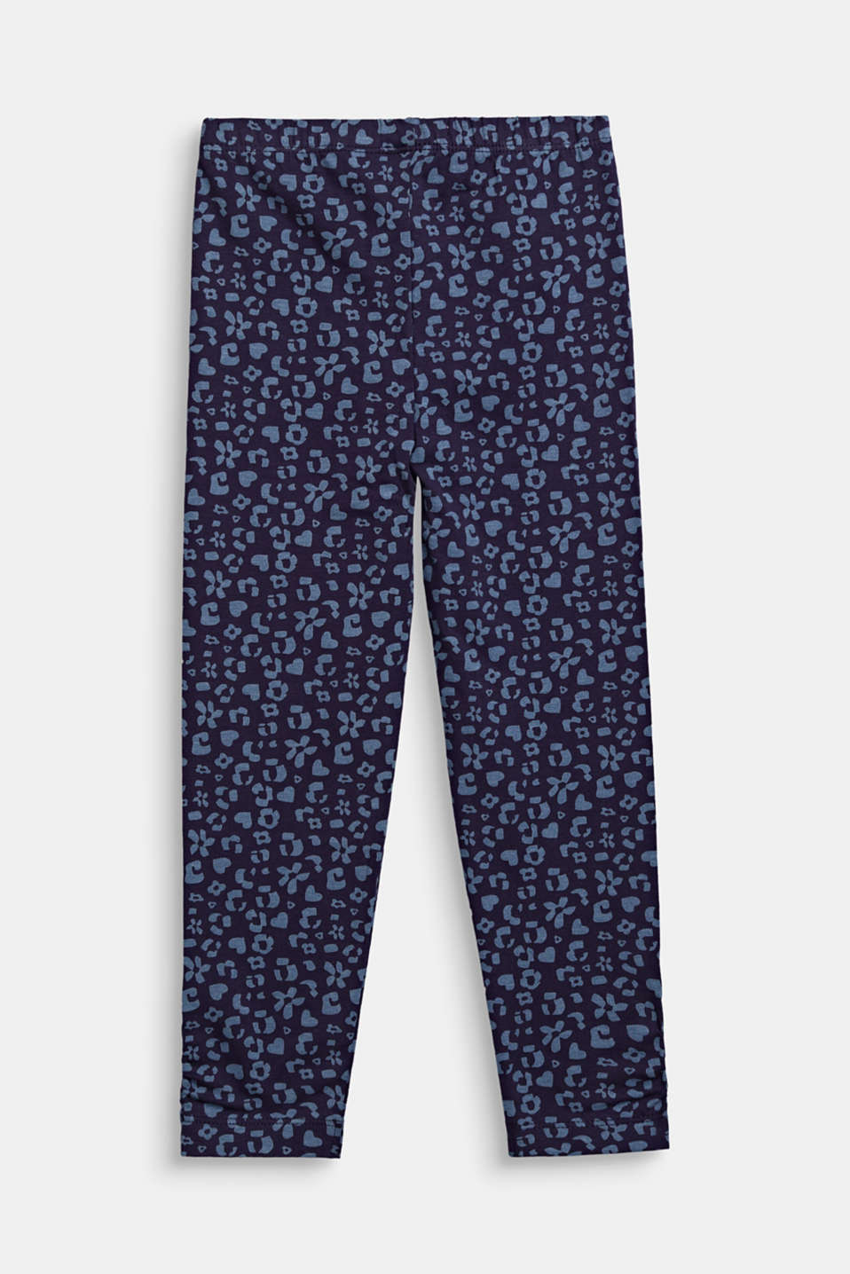 Leggings with a printed pattern, NIGHT BLUE, detail image number 1