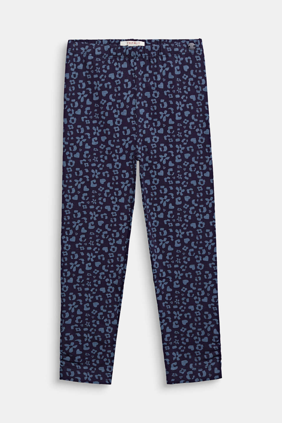 Leggings with a printed pattern, NIGHT BLUE, detail image number 0