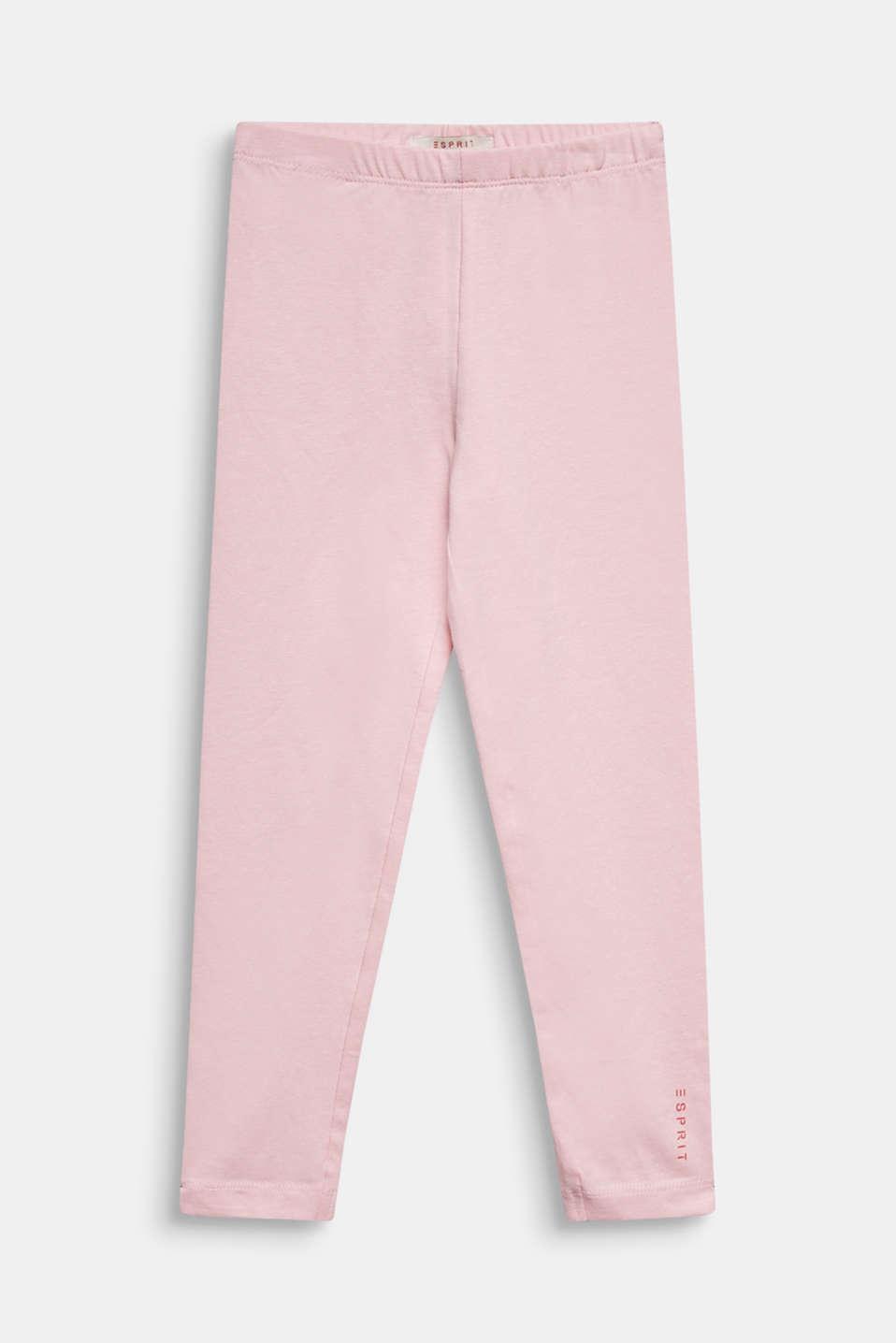 Opaque basic leggings, LIGHT PINK, detail image number 0