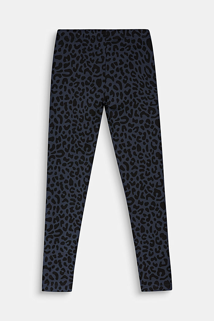 Leggings with a leopard print, ANTHRACITE, detail image number 1