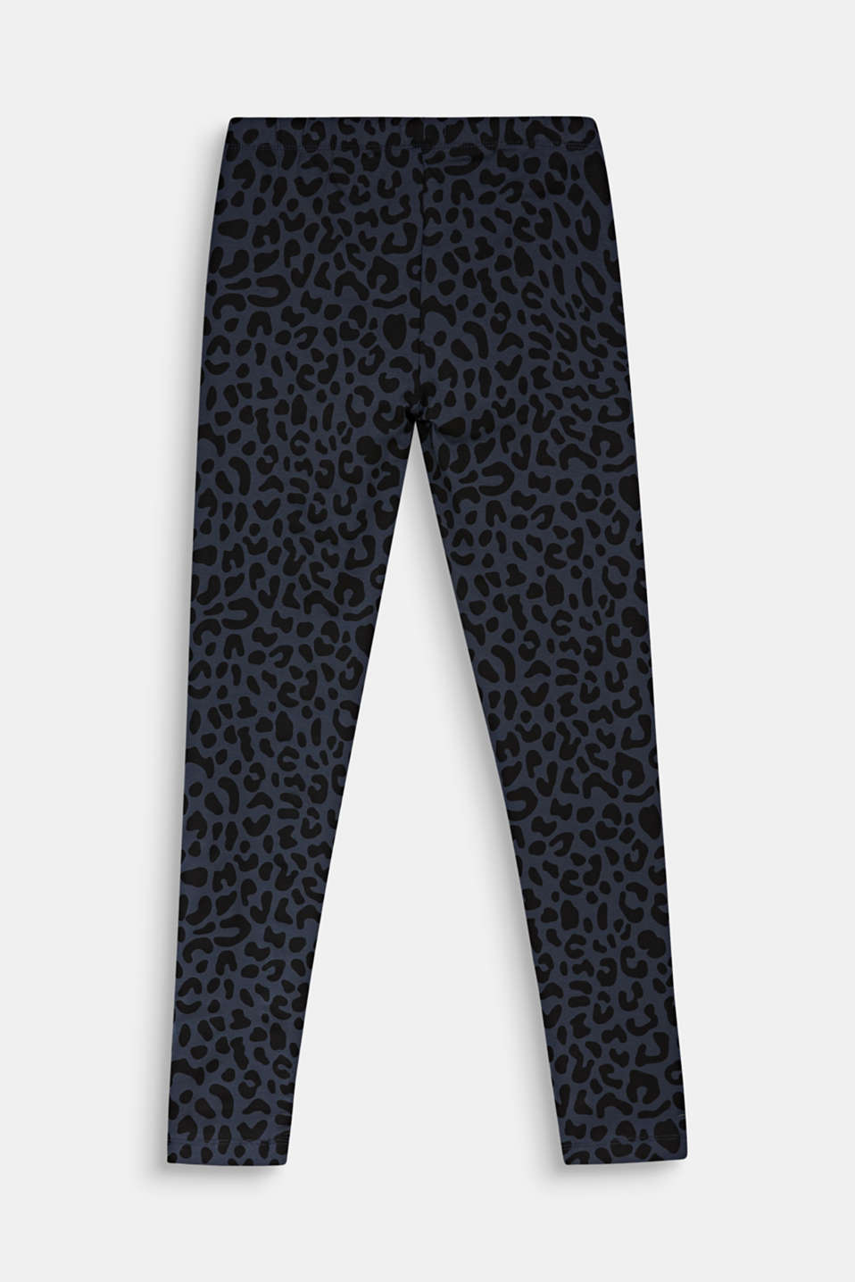 Leggings with a leopard print, LCANTHRACITE, detail image number 1