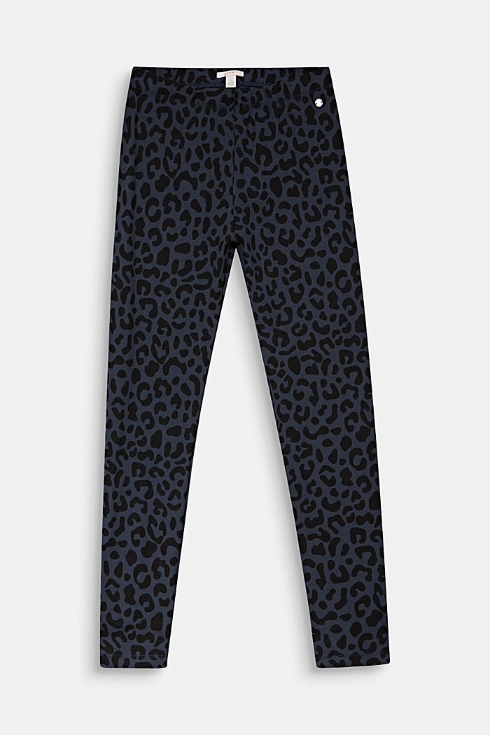 Leggings with a leopard print, ANTHRACITE, detail image number 0