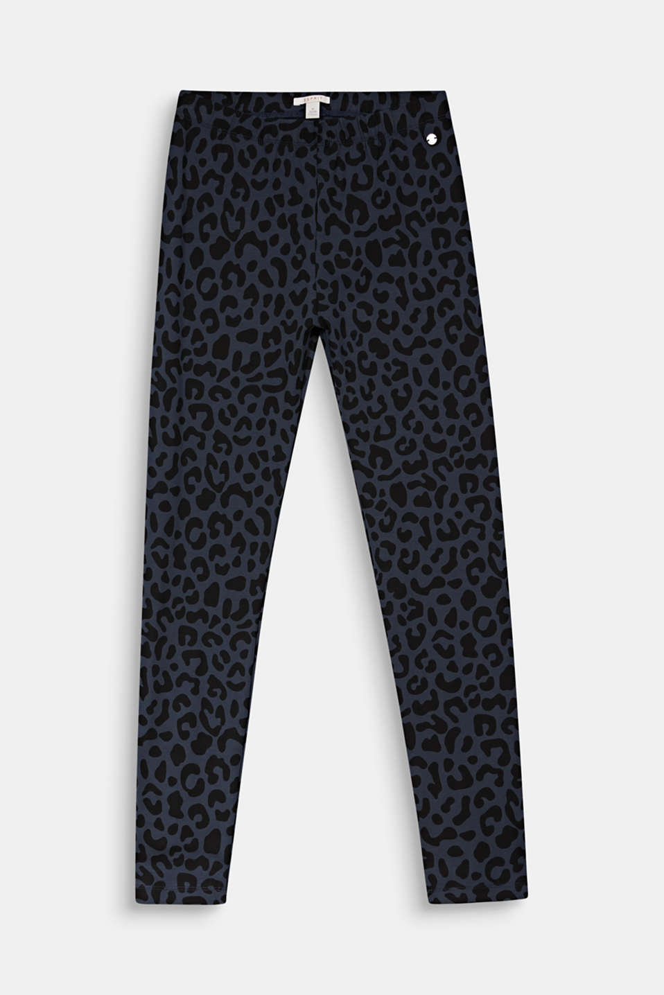 Leggings with a leopard print, LCANTHRACITE, detail image number 0
