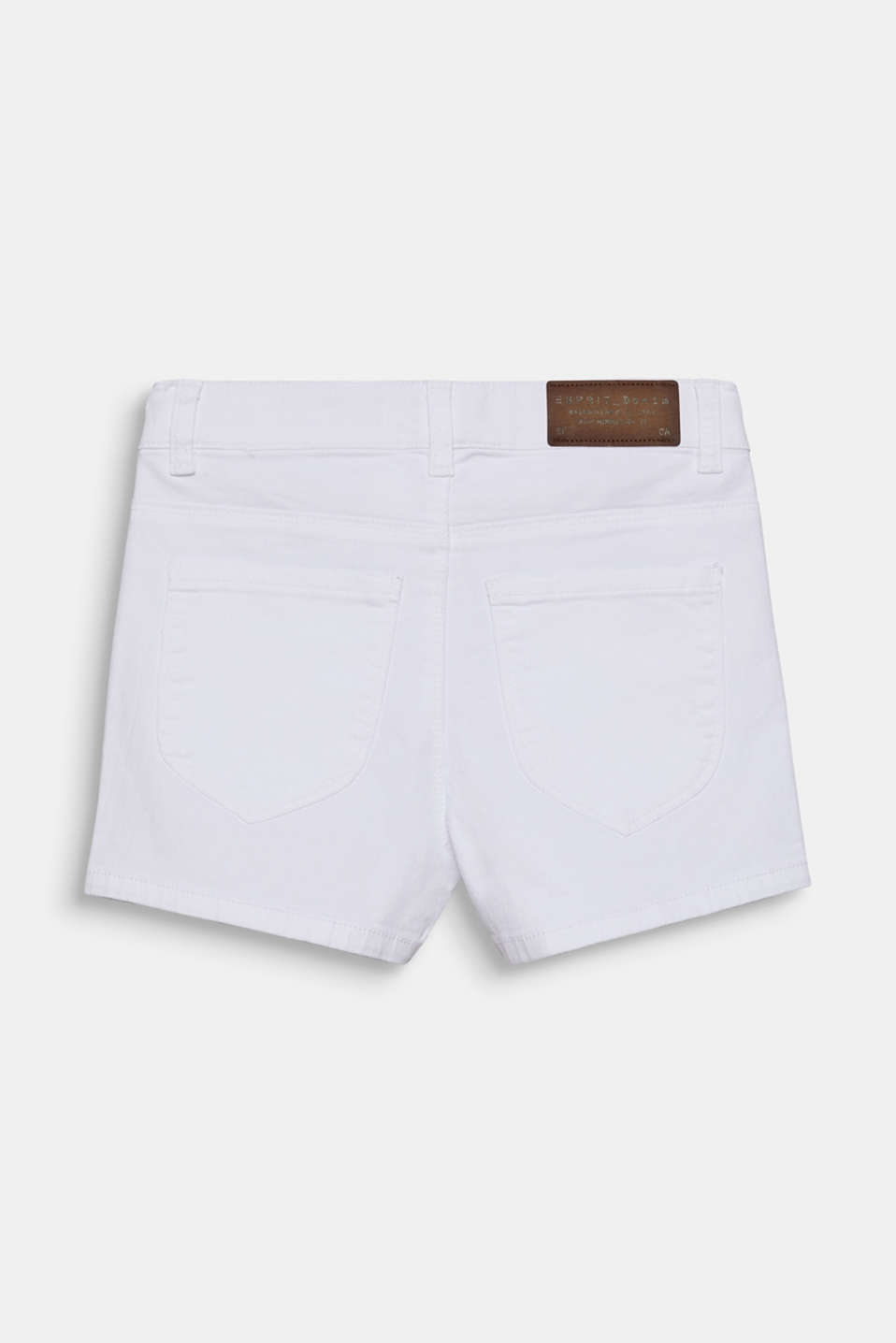Skinny stretch denim shorts, adjustable waistband, LCWHITE, detail image number 1
