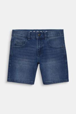 Comfy stretch denim shorts, adjustable waistband, LCLIGHT INDIGO D, detail