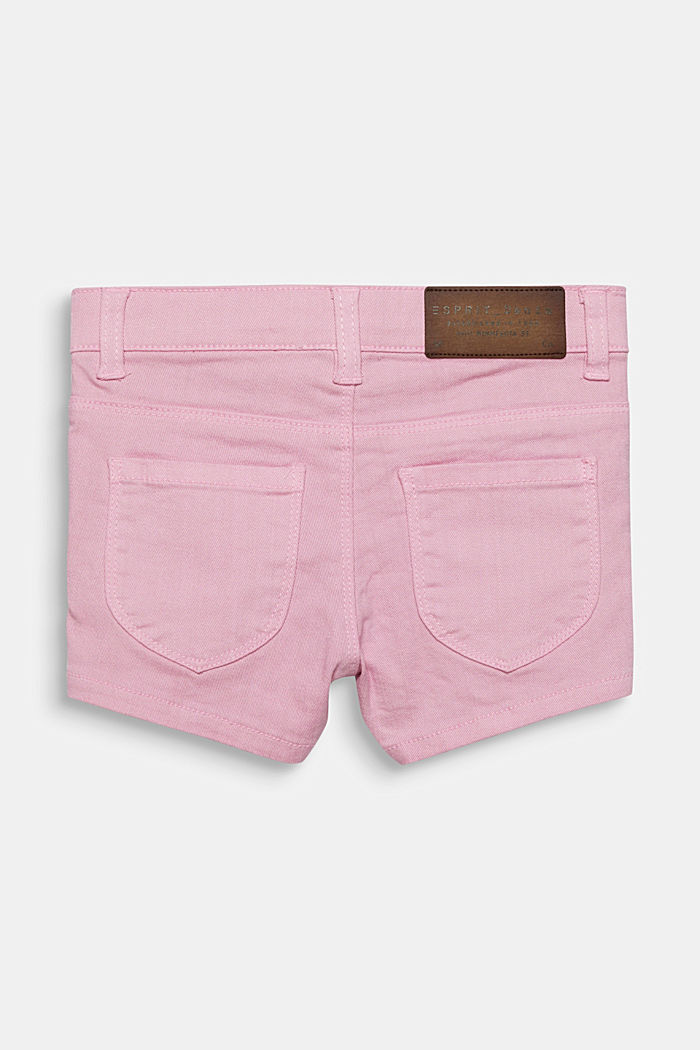 Colored Jeans-Shorts mit Verstellbund, LIGHT PINK, detail image number 1