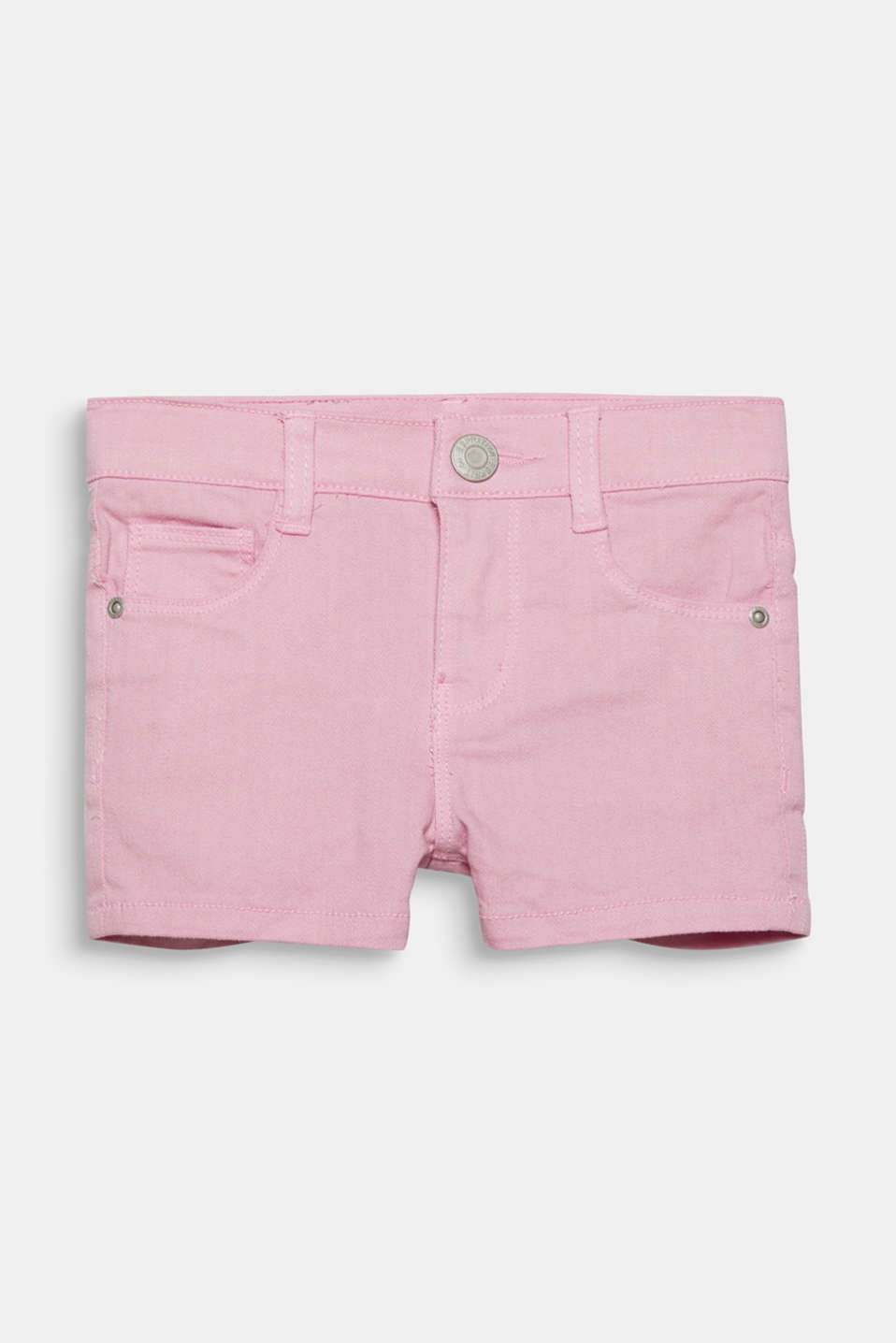 Esprit - Coloured denim shorts with an adjustable waistband