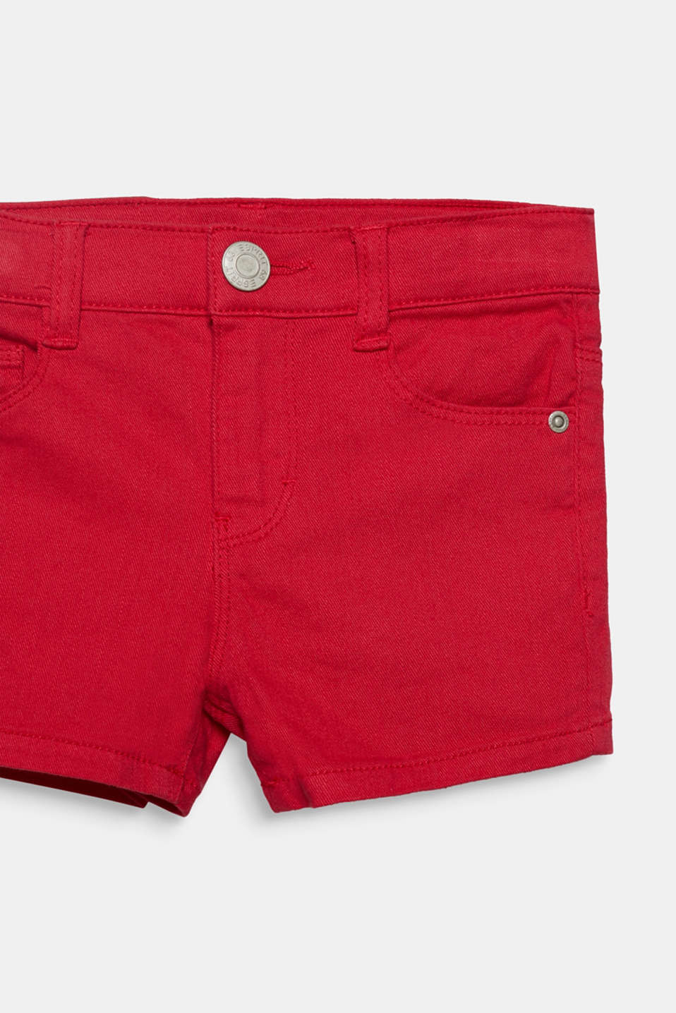 Coloured denim shorts with an adjustable waistband, RASPBERRY, detail image number 2